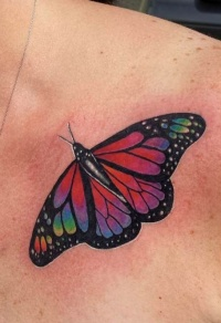 Tattoo red butterfly