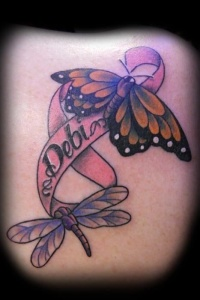 Tattoo two butterflies